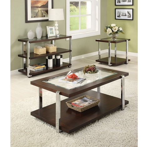 Jae Espresso Finish Coffee/End Table Set