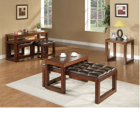 Tiburon Medium Brown Sofa Table