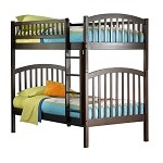Richmond Bunk Bed Twin Over Twin in Antique Walnut Finish