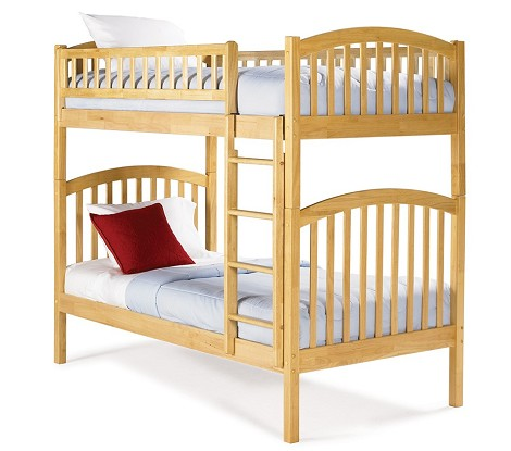 Richmond Bunk Bed Twin Over Twin in Natural Maple Finish