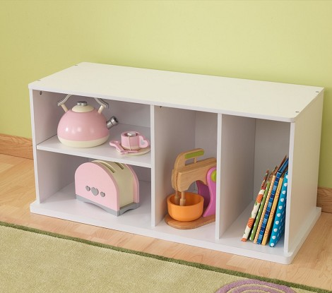 Storage Unit w Shelves - White
