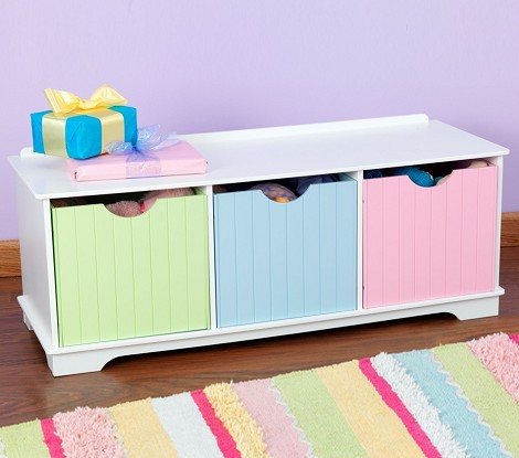Nantucket Pastel Storage Bench