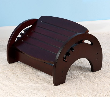 Adjustable Stool for Nursing - Cherry