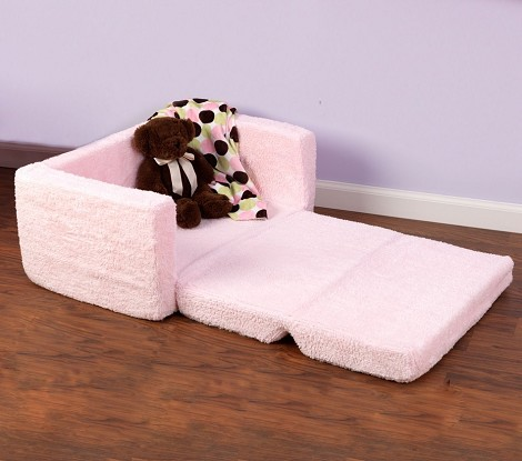 Lil' Lounger Pink Chenille