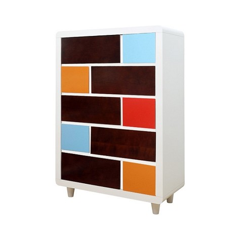 Paul Frank colors 10-Drawer Chest White