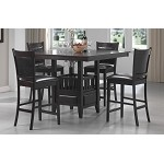 100958 Jaden Square Counter Height Table & Cushioned Stool Set