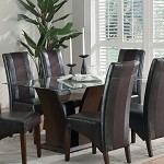 102240 Rodeo Glass Top Dining Table