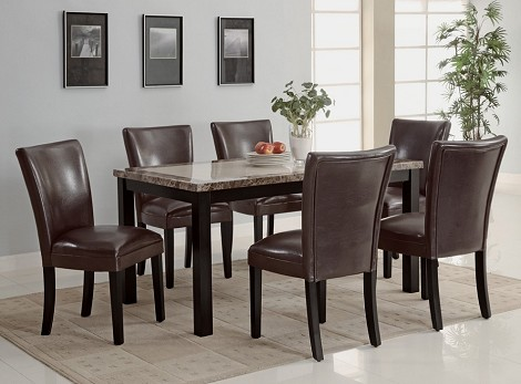 102260 Carter Dining Set Brown