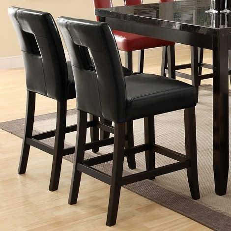 103619 Newbridge Counter Height Stool Black (set of 2)