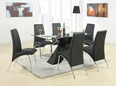 120811 Ophelia Contemporary Dining Set Black