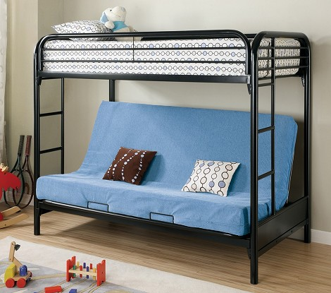 Fordham Twin Over Full Futon Metal Bunk Bed