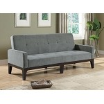 300229 Tufted Sofa Bed with Track Arms