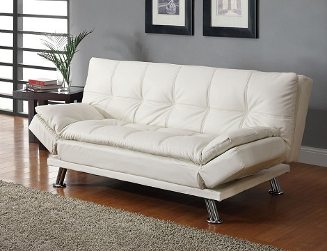 300291 Contemporary Styled Futon Sleeper Sofa with Casual Seam Stitching