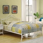 Bella Youth Bed In White Metal