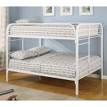 Youth Full over Full Bunk Bed in White