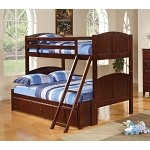 Pedro Underbed Storage Twin over Twin/Full Bunk Bed in Rich Cappuccino Finish