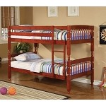 Coral Traditional Twin Over Twin Bunk Bed