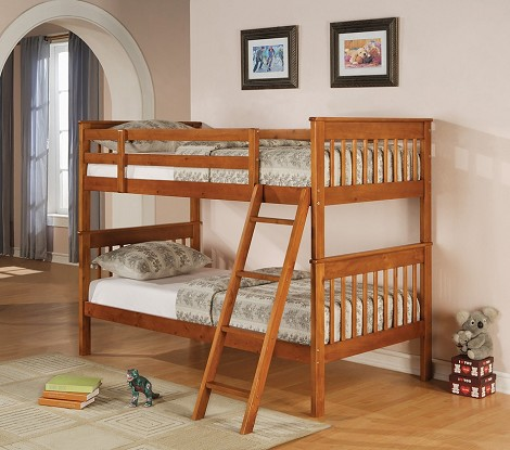 460233 Twin/Twin Bunk Bed in Distressed Pine Finish
