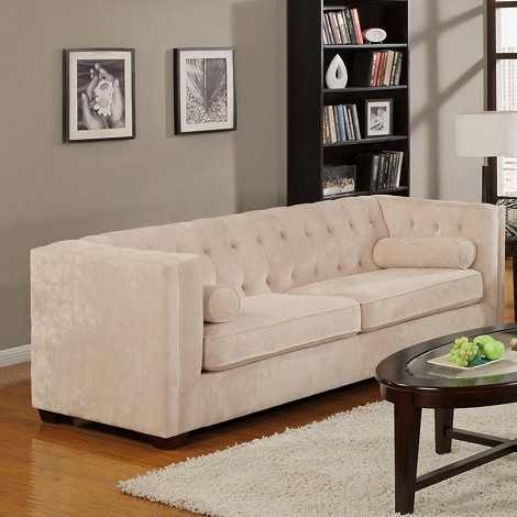 504391 Alexis Transitional Chesterfield Sofa