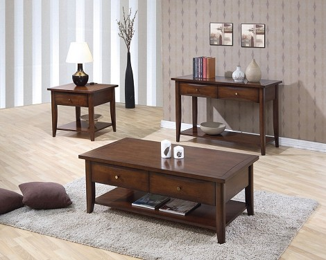 700957 Whitehall Accent table collection Walnut