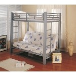 7399 Bunks Twin Over Futon Metal Bunk Bed