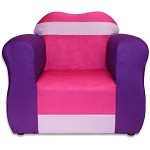 Fantasy Furniture The Great Chair Pink/Purple Microsuede
