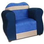Fantasy Furniture The Great Chair Navy/Blue Microsuede