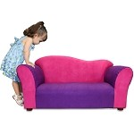 Fantasy Furniture Wave Sofa Pink / Purple Microsuede