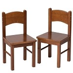 1408C  A Pair of Rectangle Chairs Cherry