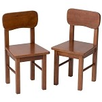 1409C  A Pair of Round Chairs Cherry