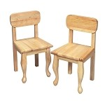 3003N  A Pair of Queen Anne Chairs Natural