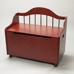 4025C  Deacon Bench Styled Toy Chest on Casters  - Cherry