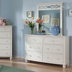 2119TW Sanibel Dresser & Mirror White