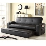 4803blk Novak Elegant Lounger Black