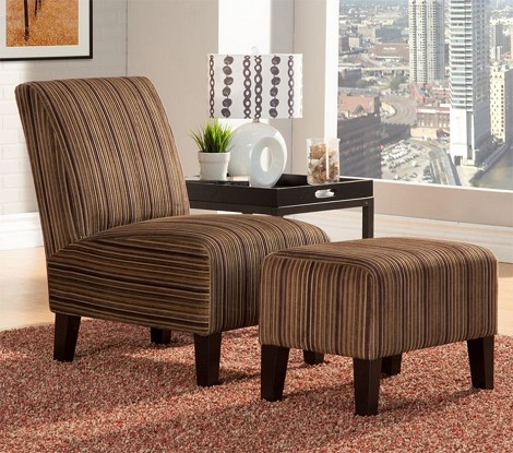 484FS Ione Accent Chair & Ottoman