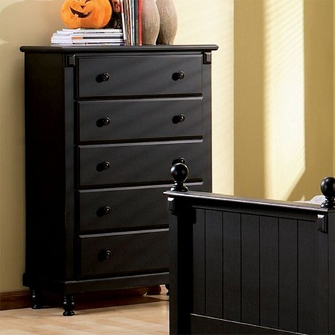 875T Pottery Chest of Drawers Black