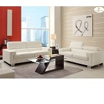 9603wht Vernon Sofa Set White