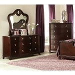 Lund Dresser & Mirror Rich Cherry