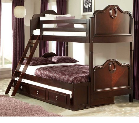 Lund Bunk Bed Set - Rich Cherry