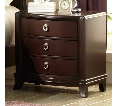 Lund Nightstand Rich Cherry