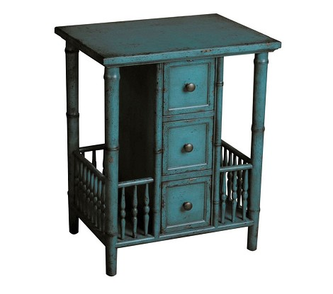 DS-597066 Accent Table in Distressed Teal Finish