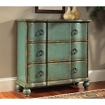 DS-739276 Hall Chest in Distressed Teal Finish
