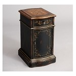 DS-974036 Chairside Table in Black/Painted Finish