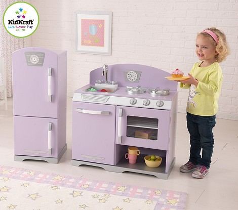 Lavender Retro Kitchen & Refrigerator