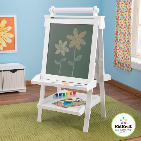 Deluxe Wood Easel - White