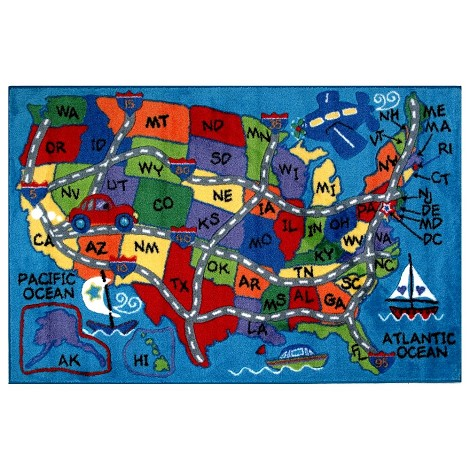 L.A Rugs Travel Fun Rug