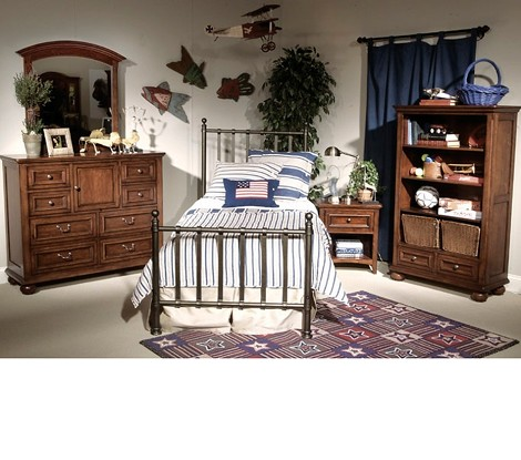 American Spirit Metal Bed