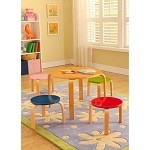 Legare Furniture Juvenile Bent Ply Table With Four Stools  Jmmp-120