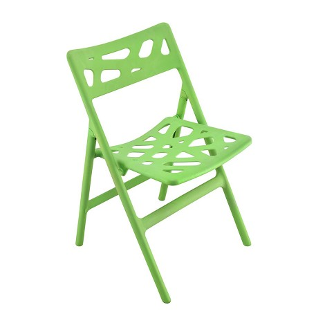 Pair Of Cyclone Folding In/Outdoor Chairs Green