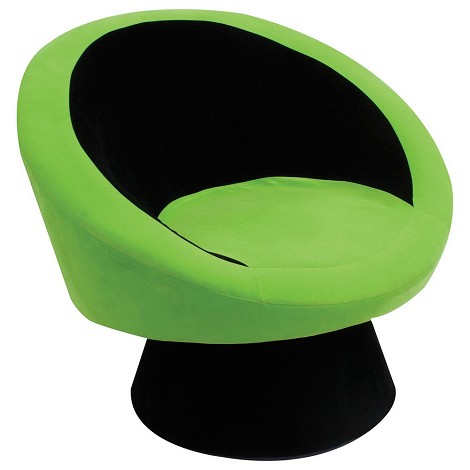 Saucer Chair Black/Green